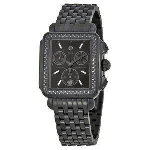 Michele Deco Diamond Noir Watch